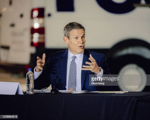Bill Lee, Tennessee's governor, speaks during a roundtable discussion on vaccine distribution on Thursday, Dec. 3, 2020. Anthony Fauci, the U.S....