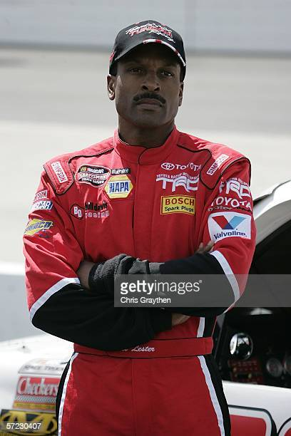 Bill Lester driver of the Checkers Toyota during qualifying for the NASCAR Nextel Cup Series DirectTV 500 on April 1 2006 at the Martinsville...