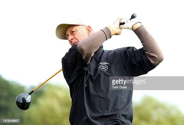 Bill Lockie of North Giles Golf Centre tees off from the 10th hole during the PGA Super 60's Tournament at the De Vere Belton Woods Golf Club on...