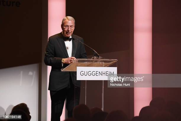 Bill Mack speaks onstage during the Guggenheim International Gala Dinner made possible by Dior at Solomon R Guggenheim Museum on November 15 2018 in...