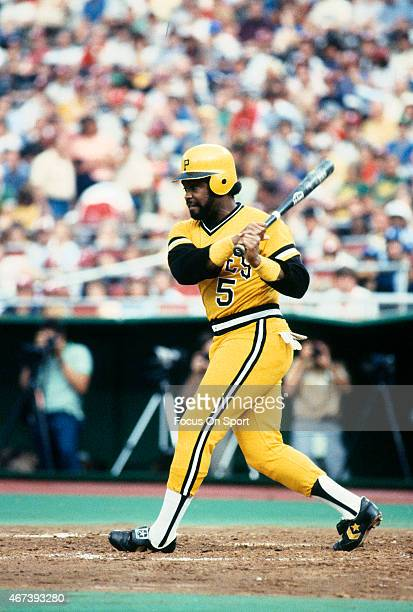Bill Madlock of the Pittsburgh Pirates bats during an Major League Baseball game circa 1979 at Three Rivers Stadium in Pittsburgh Pennsylvania...