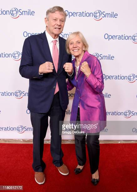 Bill Magee and Kathy Magee arrive at Operation Smile's Hollywood Fight Night at The Beverly Hilton Hotel on November 6, 2019 in Beverly Hills,...