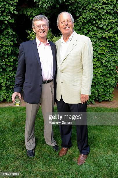 Bill Magee cofounder of Operation Smile and Bill Finneran attend THE SMILE EVENT 2013 benefiting Operation Smile on August 17 2013 in Southampton New...