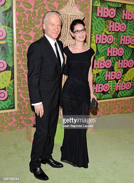 Bill Maher and Cara Santa Maria arrive at HBO's Annual Emmy Awards Post Award Reception at The Plaza at Pacific Design Center on August 29 2010 in...