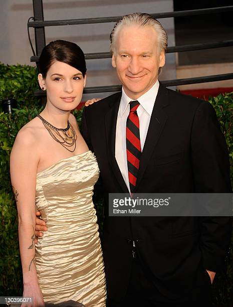 Bill Maher and Cara Santa Maria arrive at the 2010 Vanity Fair Oscar Party hosted by Graydon Carter held at Sunset Tower on March 7 2010 in West...