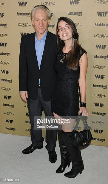 Bill Maher and Cara Santa Maria arrive at the Entertainment Weekly and Women In Film PreEmmy Party at the Restaurant at the Sunset Marquis Hotel on...
