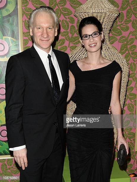 Bill Maher and Cara Santa Maria attend HBO's post Emmy Awards party at Pacific Design Center on August 29 2010 in West Hollywood California