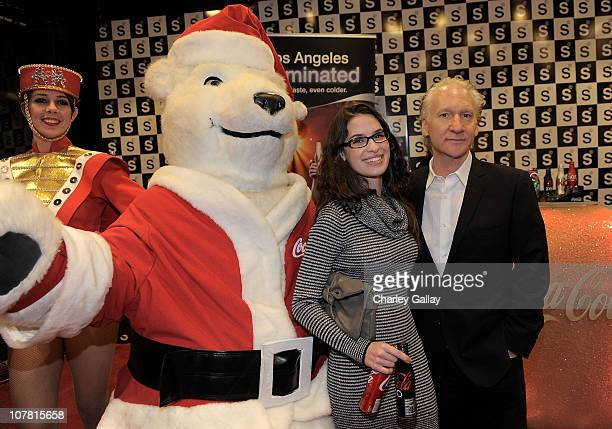 Bill Maher and Cara Santa Maria attend Seth MacFarlane And Twentieth Century Fox Home Entertainment's celebration of the launch of Family Guy It's a...