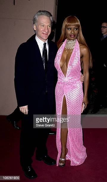 Bill Maher and Coco Johnsen during 2004 Clive Davis PreGrammy Party Arrivals at Beverly Hills Hotel in Beverly Hills California United States