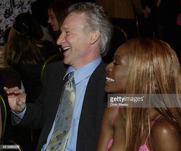 Bill Maher and Coco Johnsen during Liberty Hill Foundation's 21st Annual Upton Sinclair Dinner at Beverly Hilton in Beverly Hills California United...
