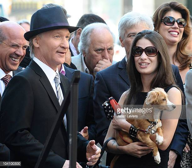 Bill Maher and girlfriend Cara Santa Maria attend Maher's induction into the Hollywood Walk of Fame on September 14 2010 in Hollywood California