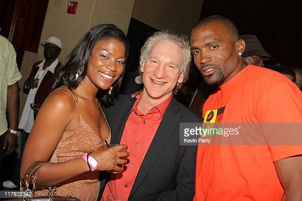 Bill Maher and guest and Cuttino Mobley during And1 Mixtape Tour Volume 9 Premiere After Party at White Orchid in Hollywood California United States