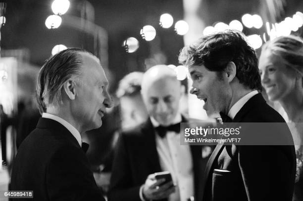 Bill Maher and James Marsden attend the 2017 Vanity Fair Oscar Party hosted by Graydon Carter at Wallis Annenberg Center for the Performing Arts on...