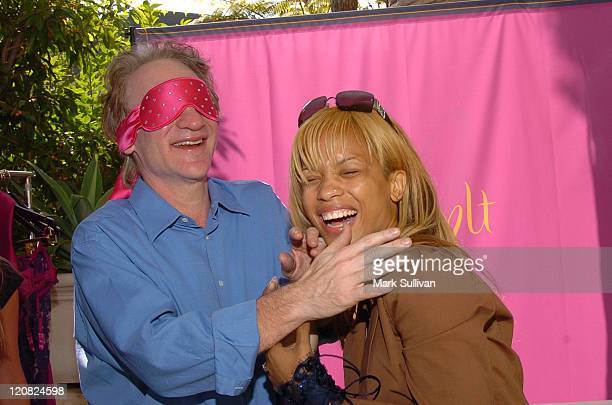 Bill Maher and Karrine Steffans at Spoylt Lingerie at HBO Luxury Lounge