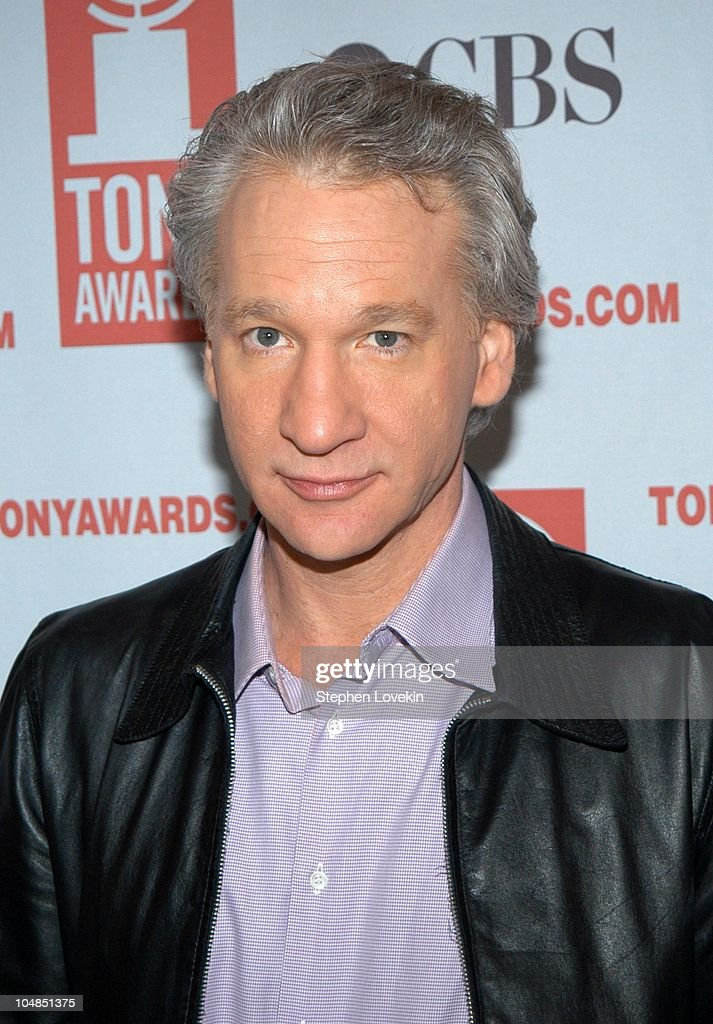 Bill Maher during 2003 Tony Awards Nominees Press Reception at The View at the Marriott Marquis in New York City, NY, United States.