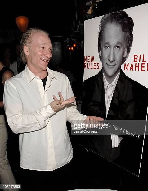Bill Maher during Bill Maher and Men's Health Magazine Celebrate the Release of Bill Maher's New Book New Rules at Elaine's in New York City New York...