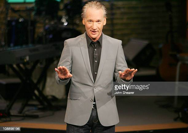 Bill Maher during Fishbowl with Bill Maher 50 Cent at VPS Studios in Hollywood California United States