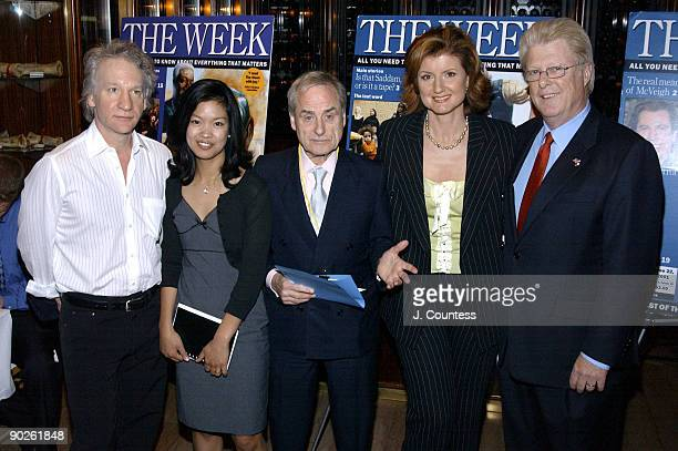 Bill Maher Michelle Malkin Harold Evans Arianna Huffington and John Gibson are the panalist for the panal discussion Censorship or Common Decency the...
