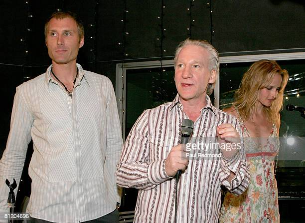 Bill Maher with host Tonny Sorensen addresses guests at a fundraiser at Von Dutch Originals Operation USA's Awareness Event for Burma on May 16 2008...