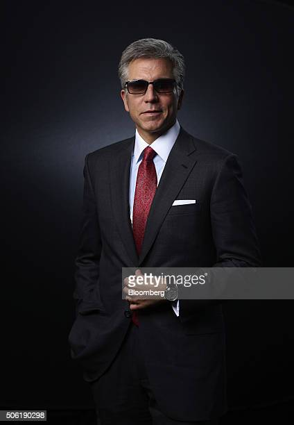 Bill McDermott chief executive officer of SAP AG poses for a photograph following a Bloomberg Television interview in Davos Switzerland on Friday Jan...