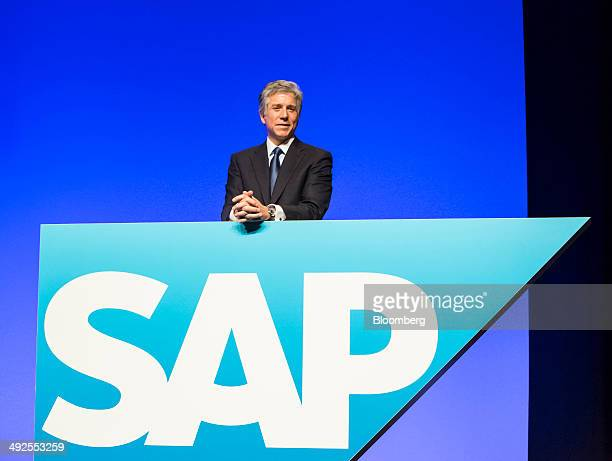 Bill McDermott chief executive officer of SAP AG poses for a photograph during the software company's annual general meeting in Mannheim Germany on...