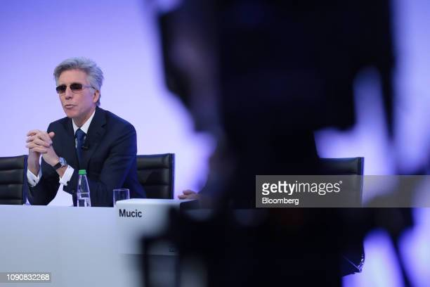 Bill McDermott, chief executive officer of SAP AG, speaks during a full year earnings news conference at the software companys headquarters in...