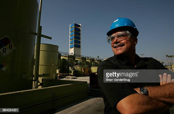 Bill McFarland of THUMS at the company's Island White oil island in Long Beach Harbor From afar the four islands in Long Beach Harbor appear to be...