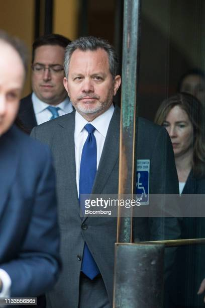 Bill McGlashan a former top executive at TPG Growth LLC who wasfired after he was charged exits federal court in Boston Massachusetts US on Friday...