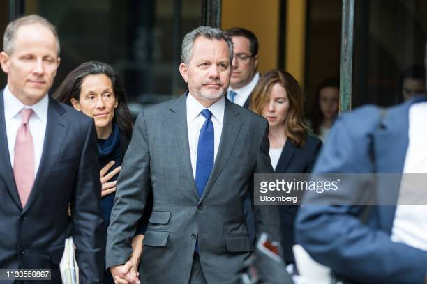 Bill McGlashan a former top executive at TPG Growth LLC who wasfired after he was charged center exits federal court in Boston Massachusetts US on...