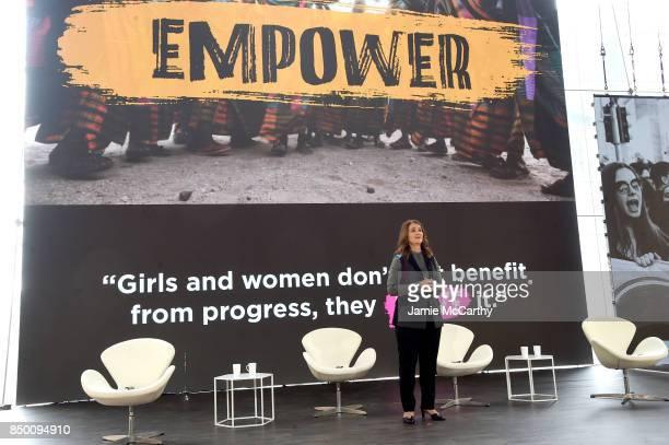 Bill Melinda Gates Foundation cofounder Melinda Gates speaks speaks at Goalkeepers 2017 at Jazz at Lincoln Center on September 20 2017 in New York...