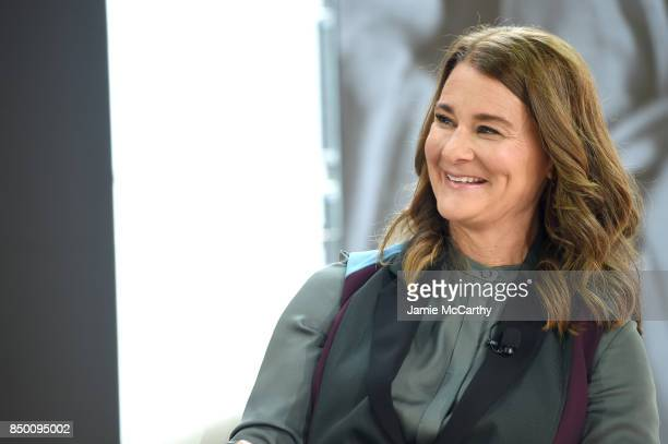 Bill Melinda Gates Foundation cofounder Melinda Gates speaks speaks at Goalkeepers 2017 at Jazz at Lincoln Center on September 20 2017 in New York...