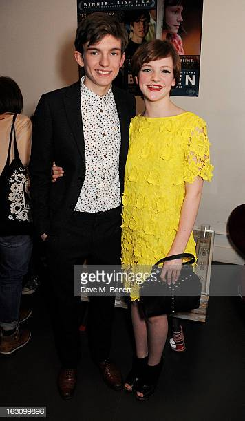 Bill Milner and Eloise Laurence attend the UK premiere of 'Broken' at the Hackney Picturehouse on March 4 2013 in London England