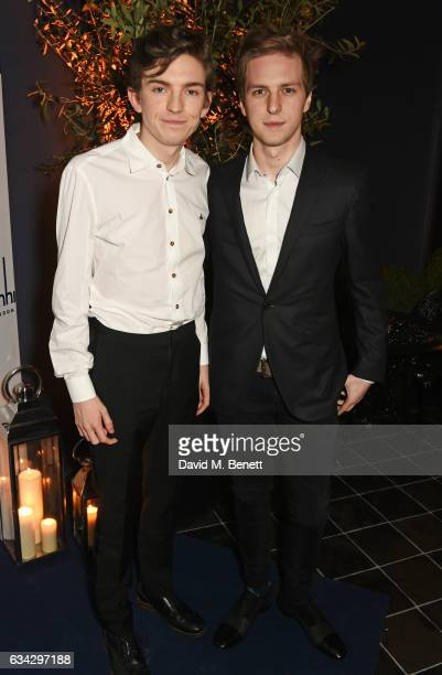 Bill Milner and guest attend the dunhill and Dylan Jones preBAFTA dinner and cocktail reception celebrating Gentlemen in Film at Bourdon House on...