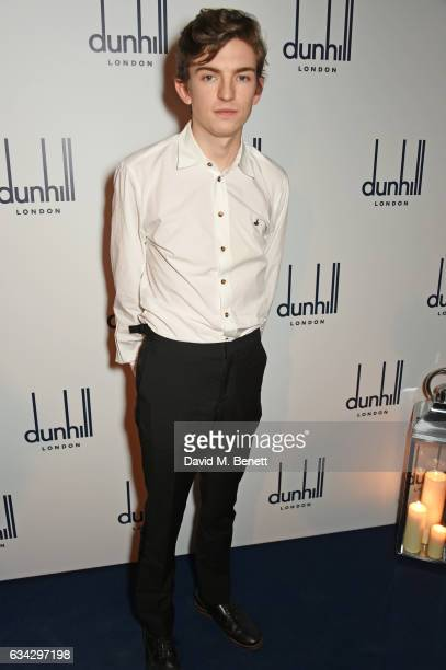 Bill Milner attends the dunhill and Dylan Jones preBAFTA dinner and cocktail reception celebrating Gentlemen in Film at Bourdon House on February 8...