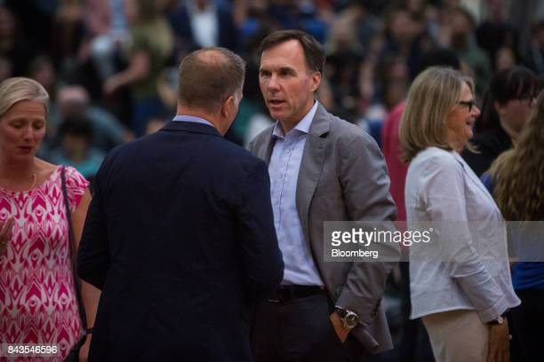 Bill Morneau Canada's finance minister attends a town hall meeting at the University of British Columbia Okanagan campus during the Federal Liberal...