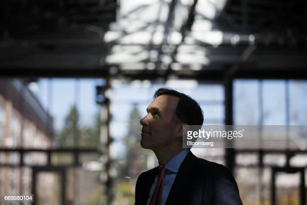 Bill Morneau Canada's finance minister prepares to speak during a press conference with John Tory mayor of Toronto and Charles Sousa Ontario's...