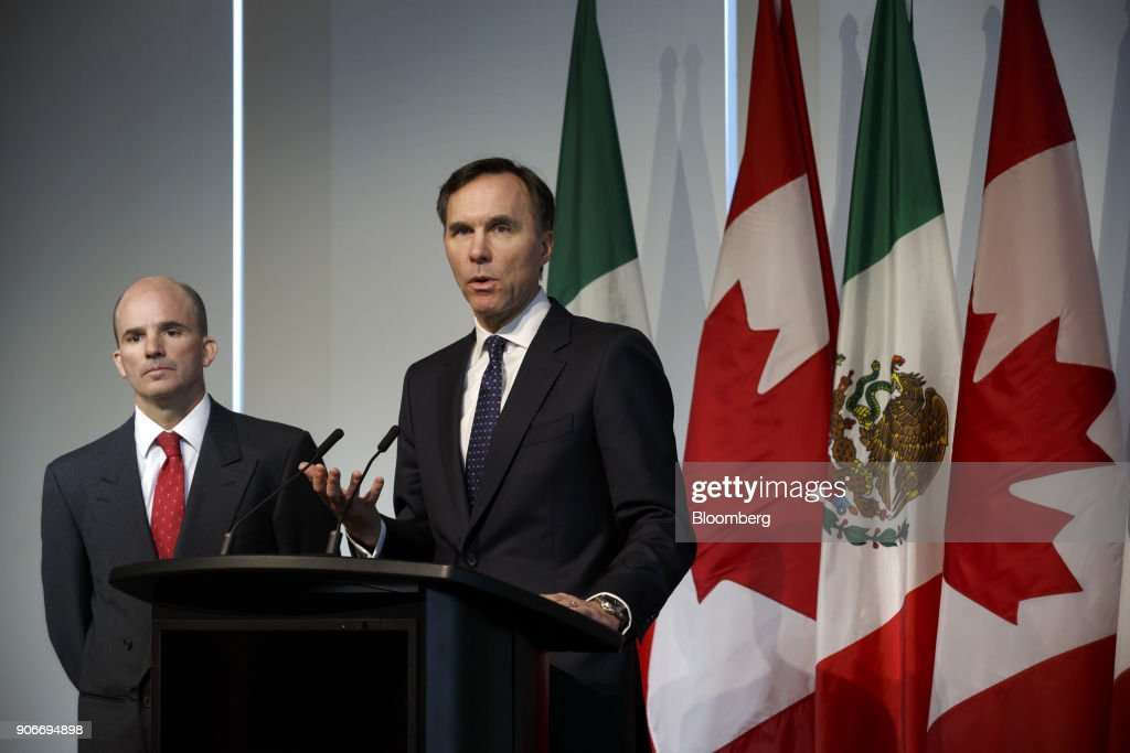 Canadian Finance Minister Bill Morneau Meets With Mexican Finance Minister Jose Gonzalez Anaya