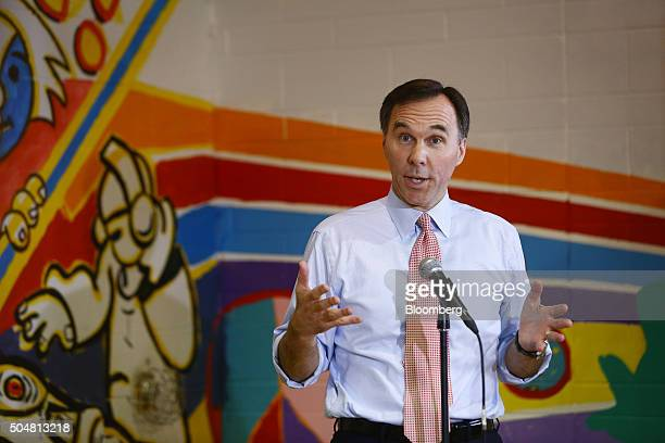 Bill Morneau Canada's finance minister speaks during a press conference at the Central Neighbourhood House a Syrian refugee welcome center in Toronto...