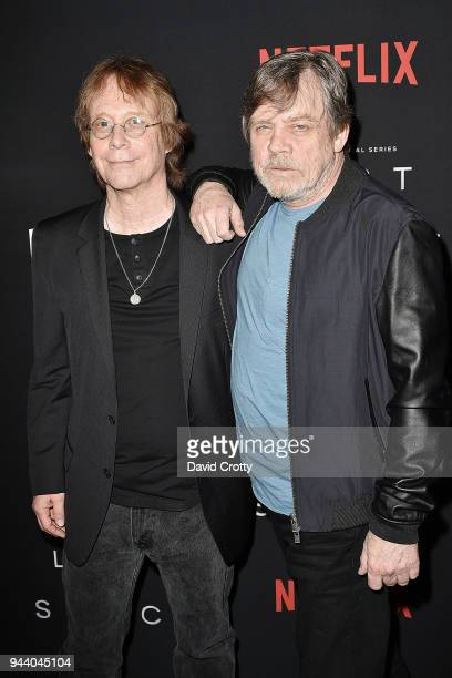Bill Mumy and Mark Hamill attend the 'Lost In Space' Season 1 Premiere at ArcLight Cinerama Dome on April 9 2018 in Hollywood California