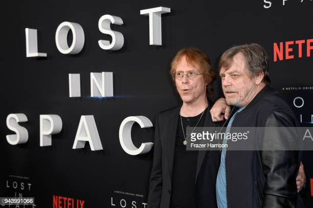 Bill Mumy and Mark Hamill attend the premiere of Netflix's 'Lost In Space' Season 1 at The Cinerama Dome on April 9 2018 in Los Angeles California