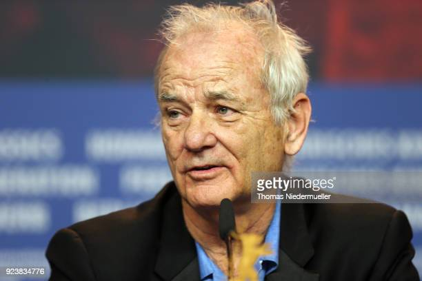 Bill Murray accepting the award for Wes Anderson attends the Award Winners press conference during the 68th Berlinale International Film Festival...