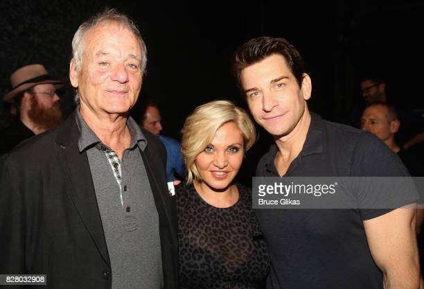 Bill Murray Actress/Singer Orfeh and husband Andy Karl pose backstage at the hit musical based on the 1993 Bill Murray film Groundhog Day on Broadway...
