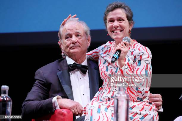 Bill Murray and Frances McDormand attend the masterclass during the 14th Rome Film Festival on October 19 2019 in Rome Italy