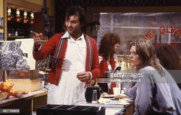 Bill Murray and Jane Curtain are photographed on the set of Saturday Night Live in 1978 in New York City CREDIT MUST READ Ken Regan/Camera 5 via...