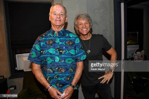 Bill Murray and Jon Bon Jovi appear at the Fifth Annual LOVE ROCKS NYC Benefit Concert Livestream for God's Love We Deliver at The Beacon Theatre on...