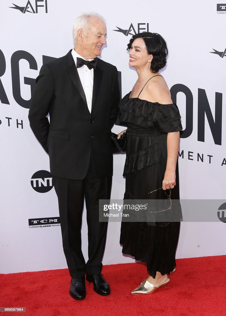 Bill Murray and Karen Duffy arrive to the American Film Institute's 46th Life Achievement Award Gala Tribute held on June 7, 2018 in Hollywood, California.
