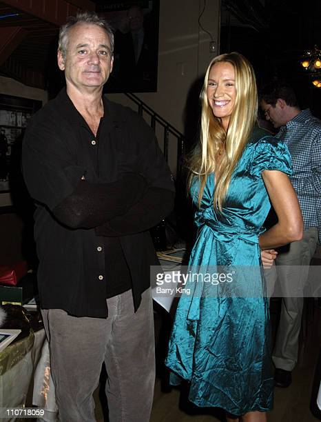 Bill Murray and Kelly Lynch during Cocktails and Comedy Benefit for the Fit Community November 3 2005 at The Improv in West Hollywood California...