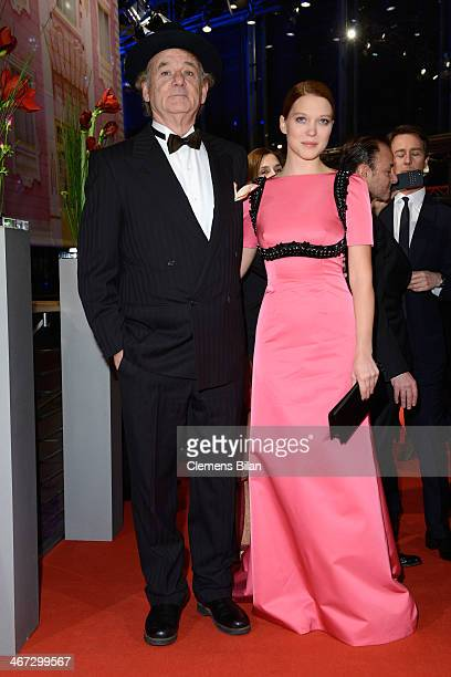 Bill Murray and Lea Seydoux attend 'The Grand Budapest Hotel' Premiere during the 64th Berlinale International Film Festival at Berlinale Palast on...