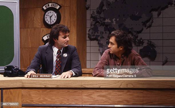 Bill Murray and Lorne Michaels are photographed on the set of Saturday Night Live in 1978 in New York City CREDIT MUST READ Ken Regan/Camera 5 via...
