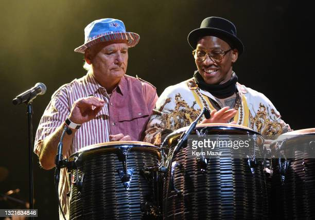 Bill Murray and Pedrito Martinez perform at the Fifth Annual LOVE ROCKS NYC Benefit Concert Livestream for God's Love We Deliver at The Beacon...